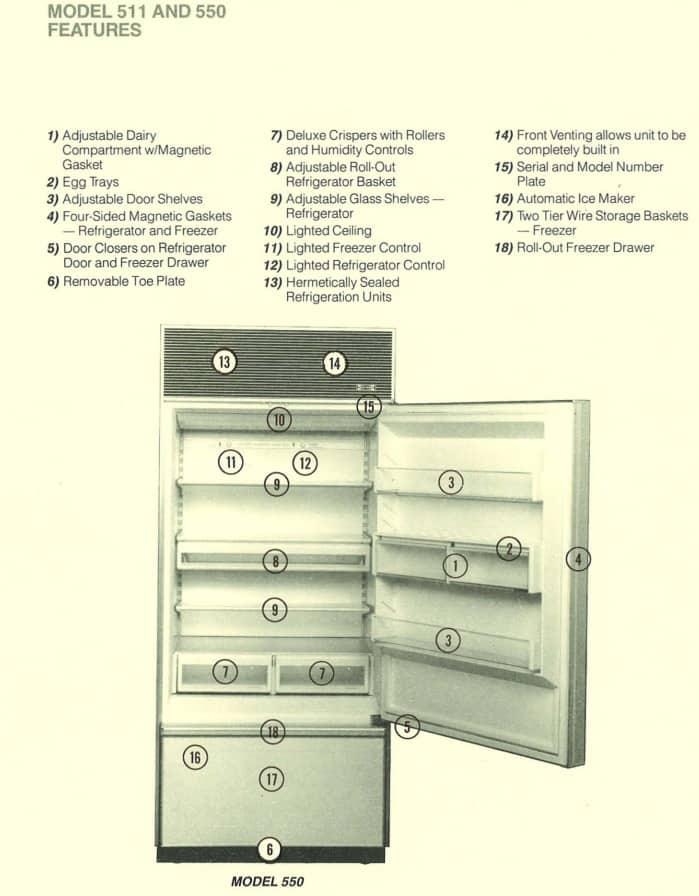 Common Issues The Sub Zero 550 Refrigerator Freezer Model