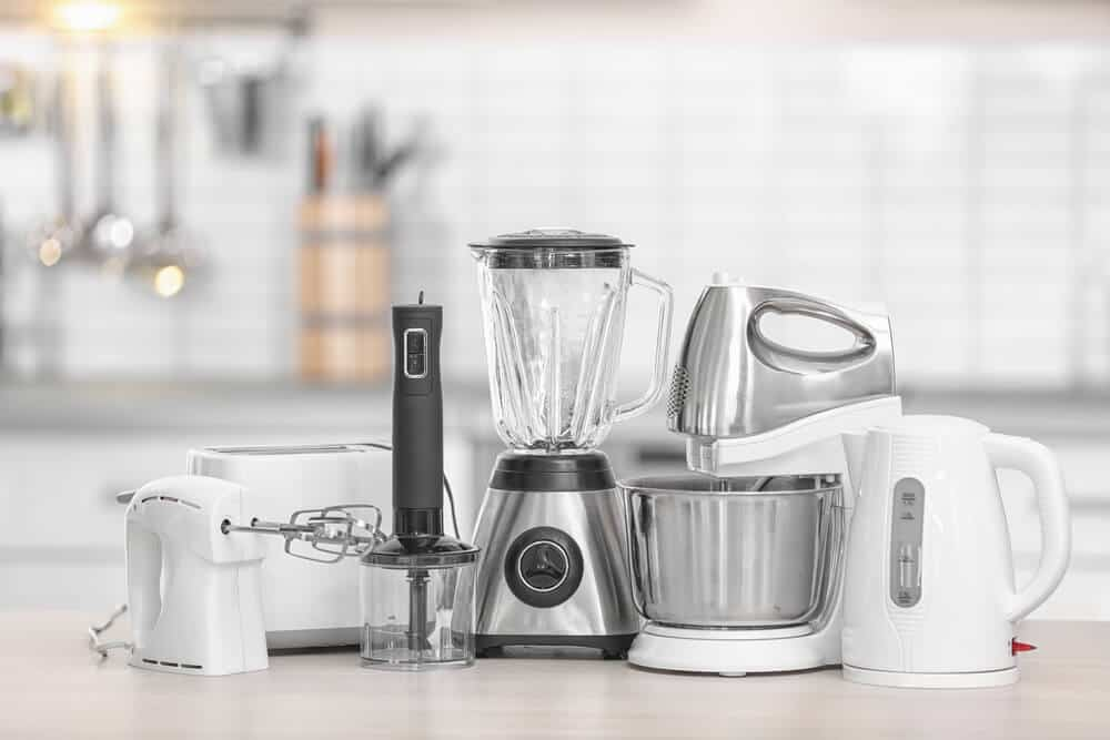 Must Have Elements For A Dream Kitchen: Different Modern Kitchen Appliances On Table Indoors