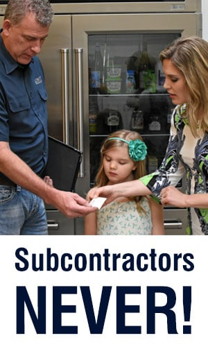 Sub-Zero appliance repair subcontractors here? NO WAY! Here's why….